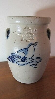 Rare Handmade Crock Rowe Pottery Works Cambridge WI 1987 Limited 112/500 Fine