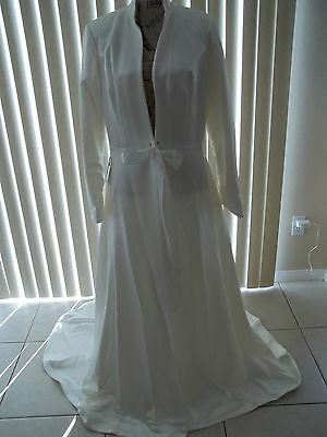 Special Sale Nwt Mon Cheri Bridal Long Sleeve Full Length Wedding Coat Size L