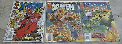Astonishing X-men Vol 1 #1 2 3 The Age of Apocalypse Marvel Comics Xmen