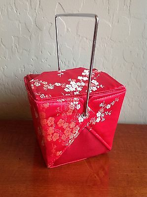 Chinese Take Out Purse Red W/ Betty Boop Key Chain
