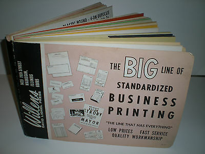 Willen's David Lionel Press Printers Salesmans Sample Book1960's Huge Loaded