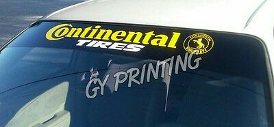 Continental Tires Windshield Decals Stickers Sunstrip Sun Visor Banners JDM