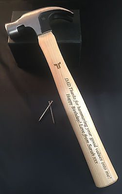 Engraved hammer Fathers Day Gift Birthday or Anniversary Gift for Him