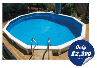 Mission Beach Pool Package 3.76m x 1.2m. AUS Made Above Ground Pool