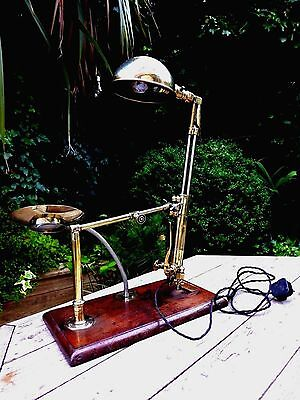 Antique Harris Design Solid Brass Welding Cutting Torch No.62 Desk Table Lamp