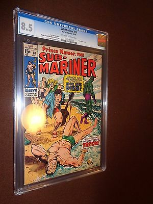 Sub-Mariner #18 * CGC 8.5 OW/W Pgs * Marvel Silver Age Comic * 1969 *