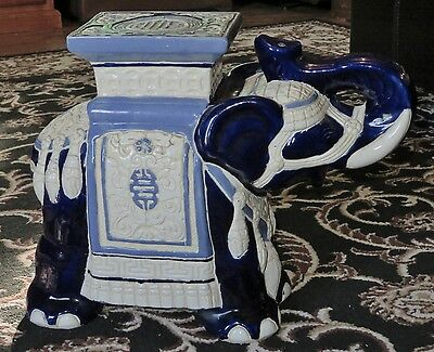 Vintage/Retro Large Decorative Ceramic Elephant Plant Stand will post