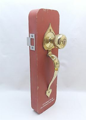 Vintage ENTRANCE ENTRY DOOR LOCKSET Brass & Aluminum Handles with or w/o Display