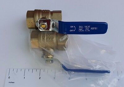 """1) 3/4"""" Female Threaded Ball Valve, Lead Free Brass, 600 Psi, Water Oil Gas"""
