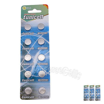 30 pcs AG10 GP189 SR54 LR1130 L1131 1.5V Alkaline Button Cell Battery EuniCell