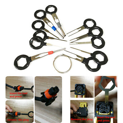 11x Car Terminal Removal Tool Kit Wiring Connector Extractor Puller Release Pin