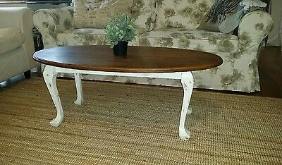 Coffee table with darcy doyle decoupage table top aud 30 for Oval farmhouse coffee table