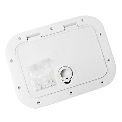 Marine Deck Plate Inspection Hatch Plastic Access Boat RV 375x280mm