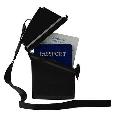 New Witz Sport Case Passport Locker Black Waterproof ABS Plastic Passport Holder