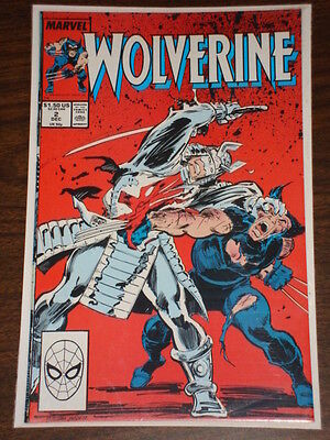 Wolverine #2 Vol1 Marvel Comics X-Men December 1988