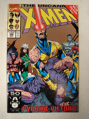 X-Men Uncanny #280 Marvel Comic Muir Island Saga September 1991