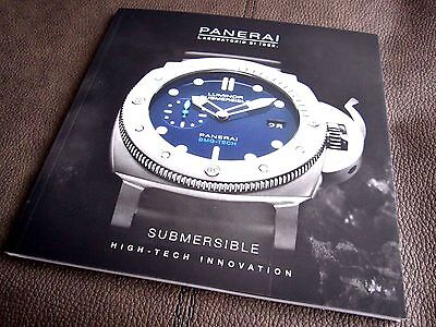 PANERAI SUBMERSIBLE CATALOGUE - Rare 2017  Limited Edition Brochure