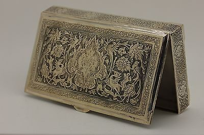 Antique Original Full Silver Persian Handmade Amazing Box