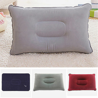 Double Sideds Inflatable Sleep Pillow Mat Cushion For Camping Picnic Travel Soft
