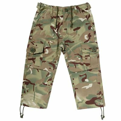 Kids Army Camouflage Multi Terrain Trousers Ages 3-8 Years Roleplay Dress Up