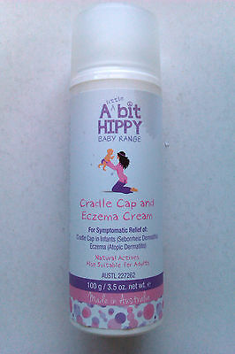 A bit Hippy Cradle Cap and Eczema Cream 100g, for symptomatic relief,SEE BELOW!!
