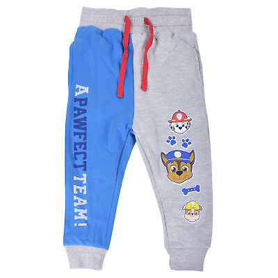 Boys PAW Patrol Grey Blue Jogging Trousers Chase Marshall Rubble Joggers