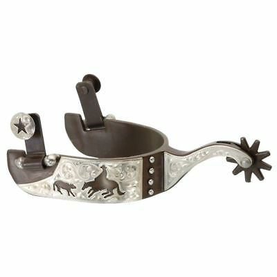 Kelly Silver Star Cutting Horse Spur Antique Brown