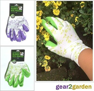 Gardening Gloves Womens Ladies Floral Puncture Proof Work Gloves From UK Stock