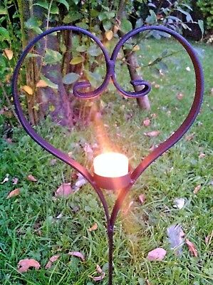 Pet Grave Marker Cat Dog Memorial Heart Tea Light Candle Remembrance BurialLove