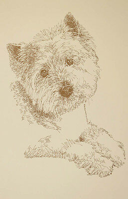 West Highland White Terrier Dog Art Print #73 Kline adds dogs name free. WESTIE
