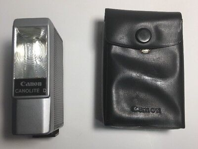 Canon Canolite D Vintage Flash With Case Japan