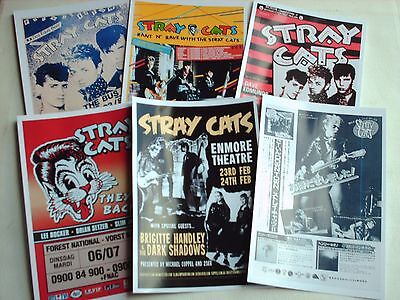Stray Cats Rockabilly Concert Posters Job Lot Set 10 Colour 6 X 4 Glossy Cards