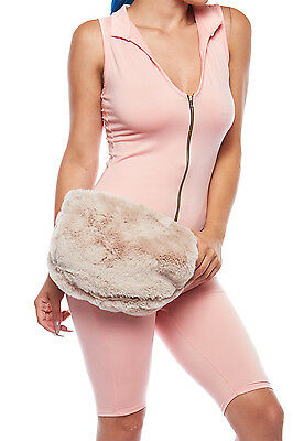 Womens Fashion Big Fur Fanny Pack Bum Bag Purse Cute Waist Bag PPC5723
