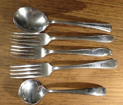 Five Piece Lot Mixed Silver Plated Flatware