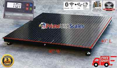 Heavy Duty 10,000 lb 40x40 Floor Scale Pallet Scale Warehouse Shipping Scale