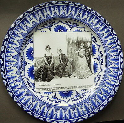 Dated 1903 ROYAL DOULTON series C. D. GIBSON PLATE as MRS. DIGGS is ALARMED