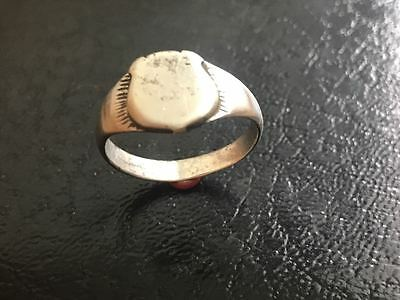 Silver ring 19th century. Shield. Excellent condition. 100% original!!!