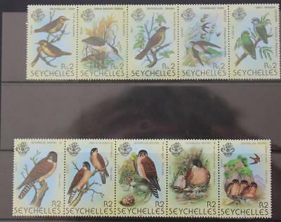 Seychelles 1979-1990 2 Birds Sets 1st and 2nd Series SG463-467 SG441-445 MNH