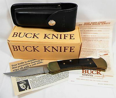 VTG BUCK KNIFE HUNTER 110 w/ ORIGINAL BOX SHEATH PAPERS NEW OLD STOCK NOS UNUSED