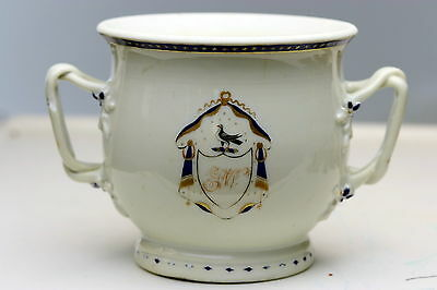 Chinese Export Armorial Porcelain Dove Stars  Double Handle Cup GW
