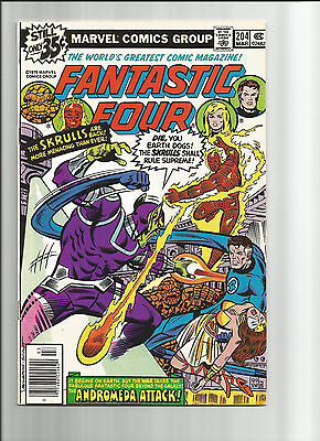 Fantastic Four # 204 - Bronze Age (1st Series) - Solid VG + (4.5)