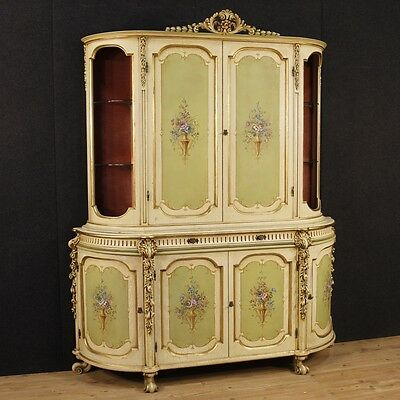 Bookcase lacquered cupboard furniture double body showcase display cabinet 900