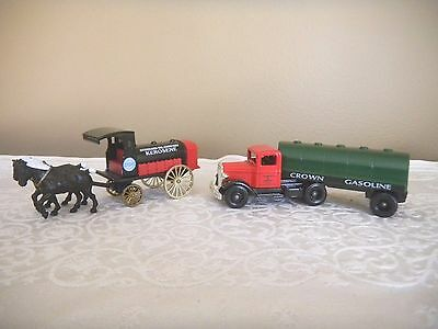 2 Lledo Die-Cast Standard Oil Chevron Die Cast Replica Horse Drawn & Semi Tanker