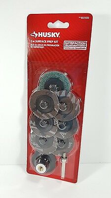 "Husky 2"" Surface Prep Kit Sanding Discs Mandrel 603 833"