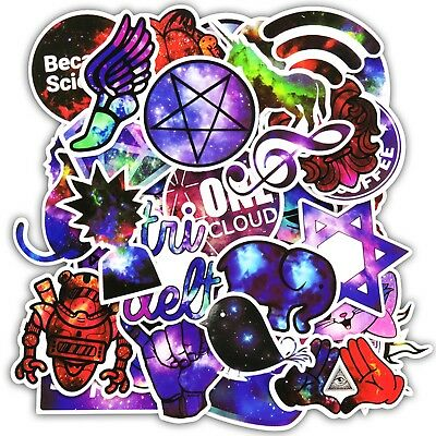 Galaxy Stickerbomb Stickers 10 25 Mixed Laptop Skateboard Celestial Horoscope