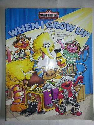 Sesame Street Live When I Grow Up Souvenir Program 1998