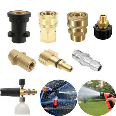 Various Quick Release Pressure Washer Hose Adaptor Connector Coupling Adapter