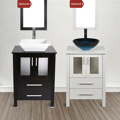 Bathroom Vanity Cabinet 24  Single Top Vessel Sink Bowl W/ Faucet Mirror Combo  sc 1 st  PicClick & BATHROOM VANITY CABINET 24