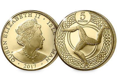 2017 Isle of Man Triskelion Uncirculated £5 Coin [Ref 649W]
