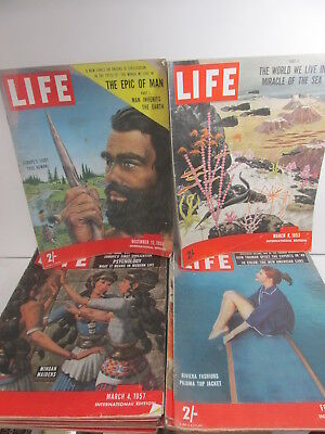 LIFE Magazine collection x 17 editions, various from 1953-63, illustrated, retro